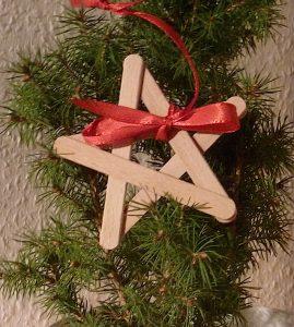 Eis am Stiel, Stern, Baumschmuck, Weihnachten