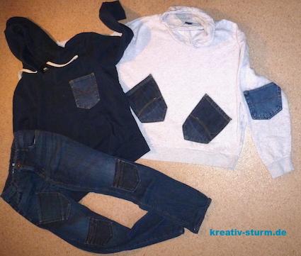 Applizierte Jeanstaschen