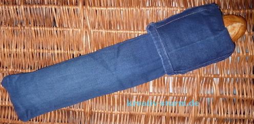 Baguette-Tasche aus Jeans