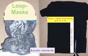 Loop-Maske aus einem T-Shirt