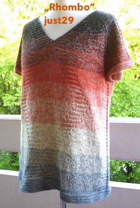 Rhombo: lässiges Shirt aus Farbverlaufsgarn